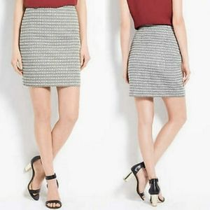 Ann Taylor   Black Graphic Jacquard Mini Skirt